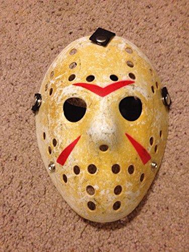 rung shop Friday The 13th Hockey Mask Halloween Jason vs Freddy Costume Movie]()