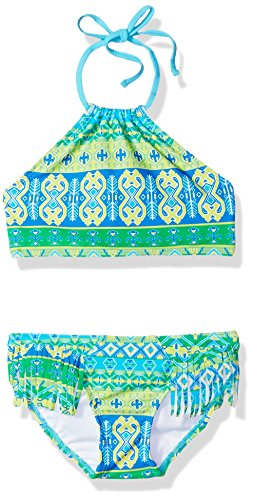 - Kanu Surf Girls' Big Mahina Halter Bikini Beach Sport 2-Piece Swimsuit, Green, 12