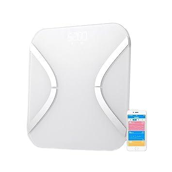 Escala de grasa, webat Yolanda Digital analizador de grasa corporal báscula de baño syncyour peso datos con el teléfono: Amazon.es: Salud y cuidado personal