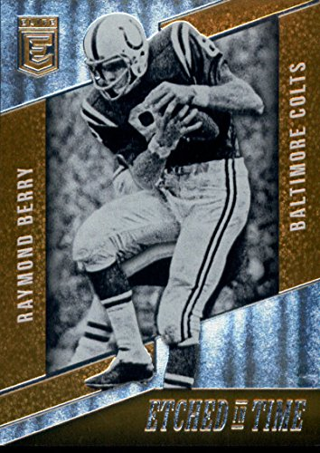 2016 Elite Etched In Time Orange #8 Raymond Berry 01/25 Baltimore (01 Berry)