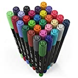 ARTEZA Fabric Markers, Set of 30 Assorted