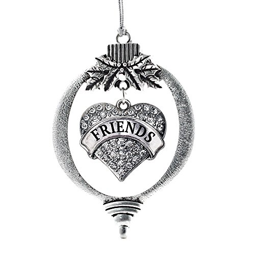 Inspired Silver - Heart Friends Classic Holiday Ornament, Christmas Tree - (Classic, Heart Friends) - Ornament Christmas Friendship