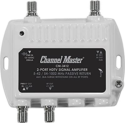 Channel Master Distribution Amplifier for Cable and Antenna Signals