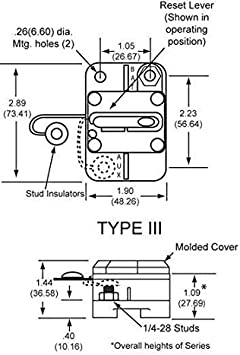 NEW OEM COOPER BUSSMAN CIRCUIT BREAKER 0-42VDC 60 AMP MANUAL TYPE III CB184F60