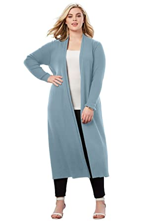 b9f5c613577 Roamans Women s Plus Size Duster Cardigan at Amazon Women s Clothing store