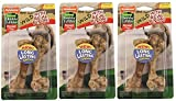 Nylabone 3 Pack Of Healthy Edibles Wild Bison Flavor Dog Chew Treats, Medium, 2 Bones each