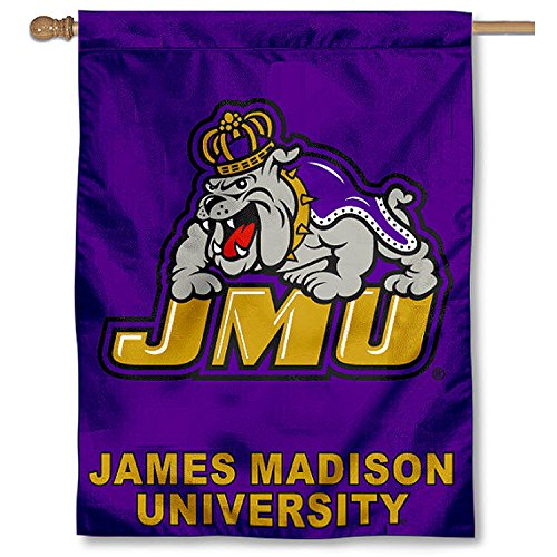 James Madison University JMU Dukes House Flag (James Madison Dukes Jmu University)