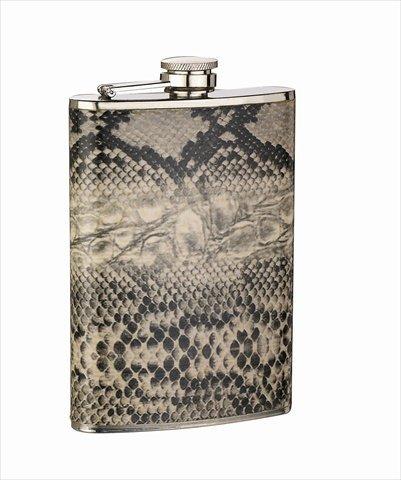 (FJX Wholesale HFL-SP023 8oz Snake Skin Wrapped Flask)