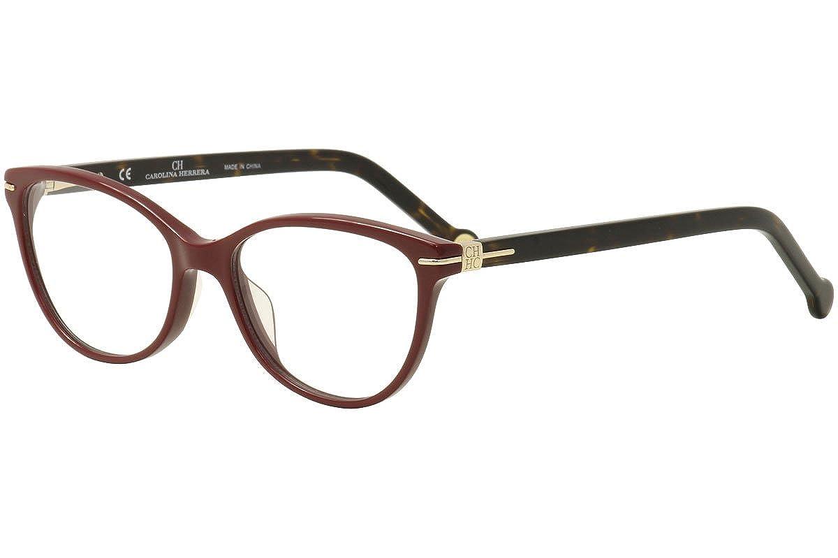 e67da746c8 CH Carolina Herrera Eyeglasses VHE660K VHE 660K 0G96 Burgundy Optical Frame  52mm at Amazon Men s Clothing store