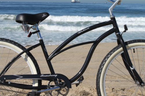 Firmstrong Urban Lady Single Speed Beach Cruiser Bicycle, 24-Inch, Black