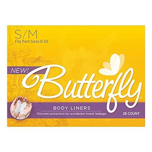 Butterfly Pads / Body Liners for Bowel Leaks - Womens S/M 168/Case