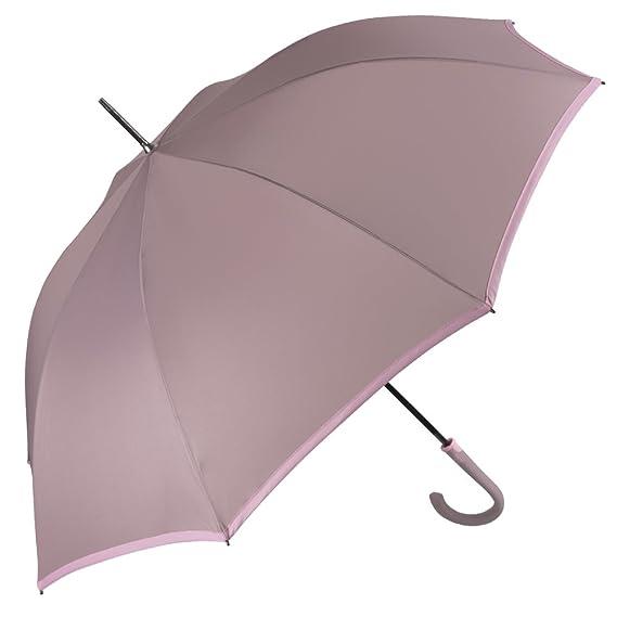 Paraguas de Mujer Largo con Apertura automática - Paraguas antiviento y Resistente Perletti Technology - Tela de Secado rápido - 112 cm de diámetro ...