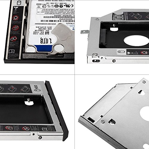 outlet QNINE 2nd HDD SSD Hard Drive Caddy Tray Adapter