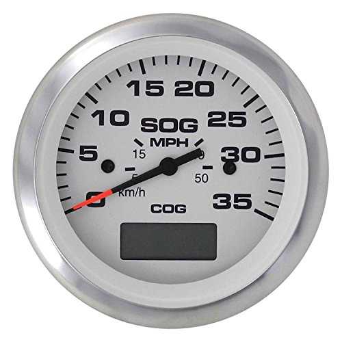 35 Mph Speedometer (Sierra International 781-310-035P Arctic Gauge, 3 inch 35 MPH GPS Speedometer)