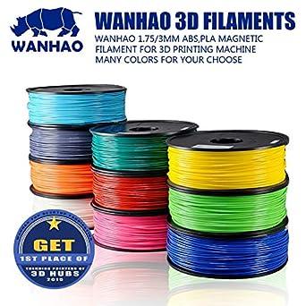 Amazon.com: Zamtac PLA/ABS 0.069 in/0.118 in filamento ...