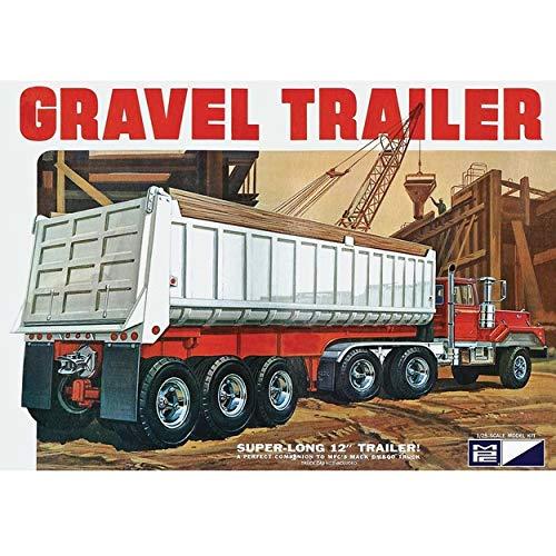 C.P.M. MPC 1:25 Scale Axle Gravel Trailer Model Kit (3-Piece)