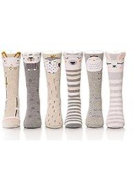 6 Pack Kids Animal Tube Socks Cotton Stocking Socks Knee High Socks 1-8Y