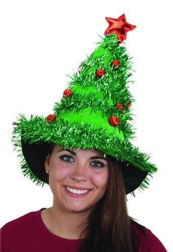 Jacobson Hat Company Adult Light-Up Christmas Tree Hat (Tree Santa Hat Christmas)