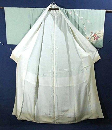 リサイクル 着物 訪問着  四季花にオシドリ 裄cm65.5 身丈160.5cm
