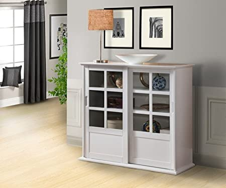 Pilastra diseños – madera Curio armario con puertas correderas de ...