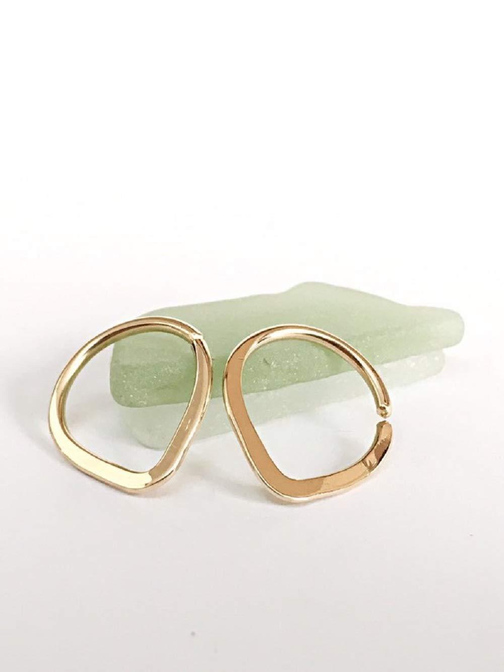 Nipple Ring Yellow Rose Gold 14K 18K Diamond Cut Tribal Body Piercing Hoop