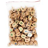 100 Wooden Dreidels for Ages 4 and Up