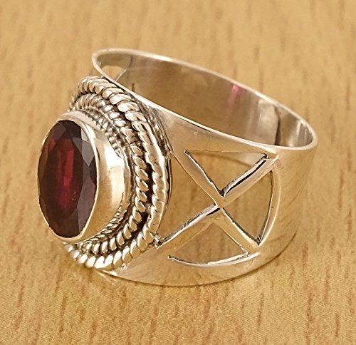 Banithani 925 en argent massif concepteur de bande de doigt indien bague artisanale de bijoux