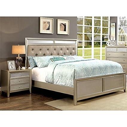 Amazon.com: Furniture of America Maire 2 Piece Queen Bedroom Set in ...