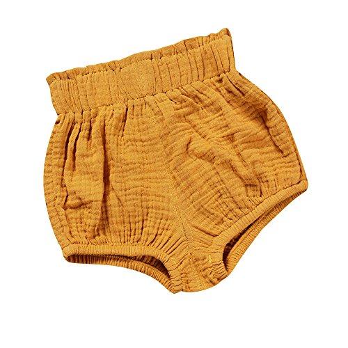 Linen Bloomers - Baby Girls Boys Cotton Linen Blend Cute Bloomer Shorts