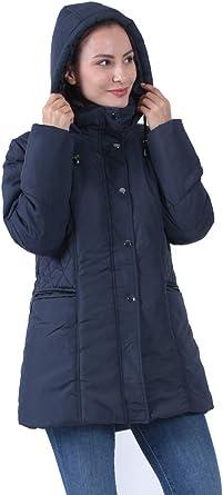 S-3XL Plusfeel Womens Puffer Coat Outdoor Cycling Lightweight Long Puffer Jacket Outdoor Coat