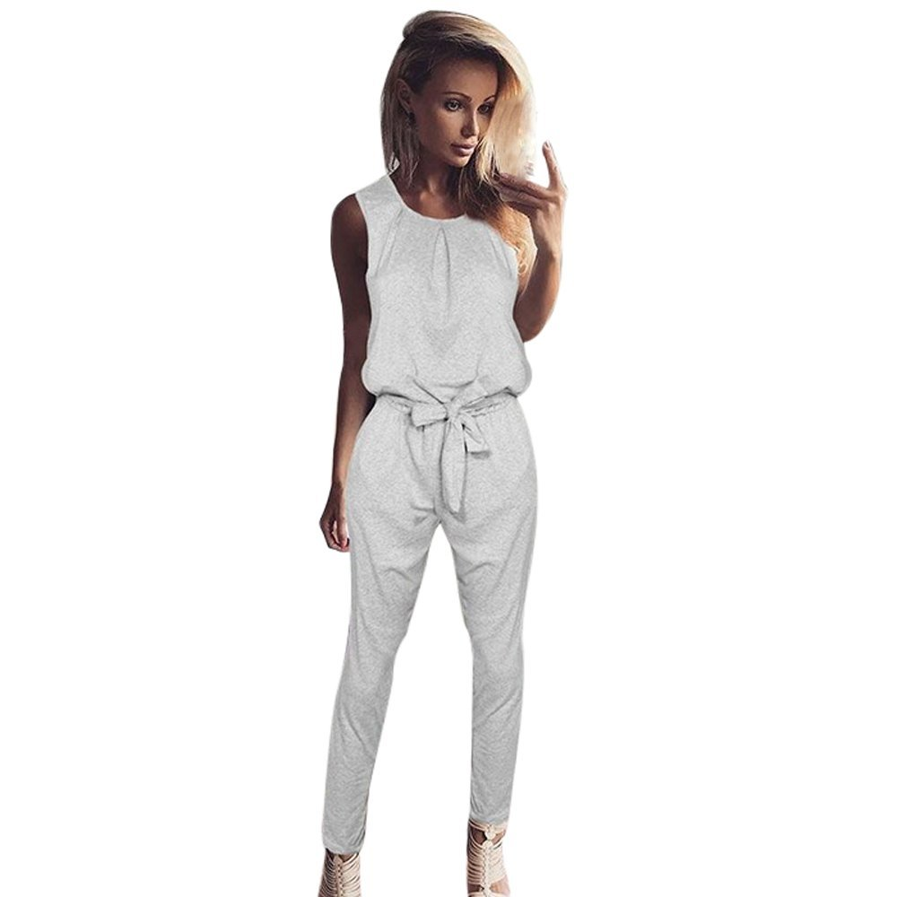 CHLZYD Womens Bandage Evening Party Playsuit Ladies Romper Long Jumpsuit