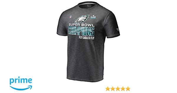 efbd9a3a Amazon.com: Men's Philadelphia Eagles NFL Heather Black Super Bowl Lii  Champions Collection T-Shirt (3XL): Clothing