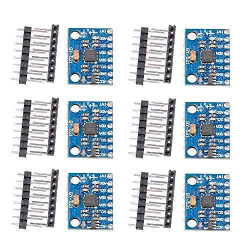 6pack GY-521 MPU-6050 3 Axis Accelerometer Gyroscope Module 6 DOF 6-axis Accelerometer Gyroscope Sensor Module MPU6050 16bit AS coverter Date Output for Arduino