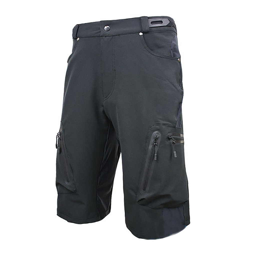 Blike Mes's Mountain Bike MTB Cycling Loose Fit Shorts Black M by Blike