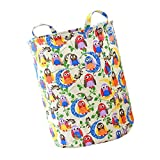 Fityle Foldable Cotton Linen Basket Bag Washing Clothes Laundry Storage 35x45cm, Can keep standing up by itself even though it does not hold any stuffs - #3
