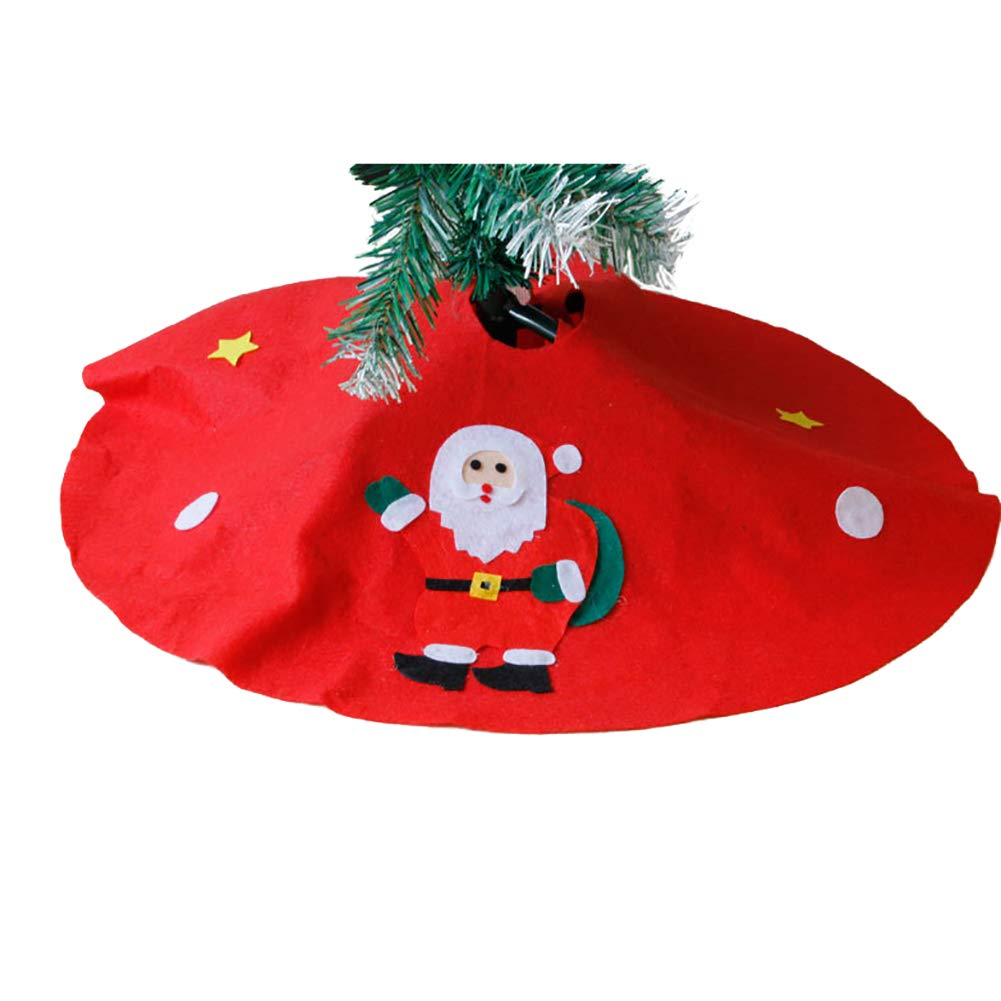 Yinpinxinmao Christmas Tree Santa Snowman Style Floor mat.Ground Cover Apron Party Xmas Decoration Christmas Tree# L by Yinpinxinmao (Image #6)