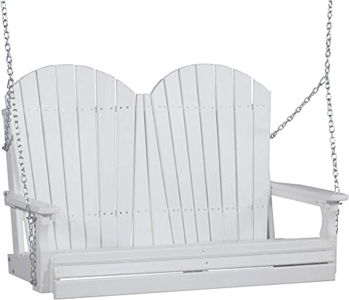 LuxCraft Adirondack 4ft. Recycled Plastic Porch Swing