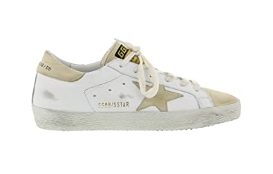 8e21d367589a6 Golden Goose Women s SuperStar White Ivory Leather Fashion Sneakers  G31WS590 B30 (EU35)