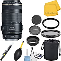 Canon EF 70-300mm f/4-5.6 IS USM 33rd Street Lens Bundle for Canon EOS SLR Cameras