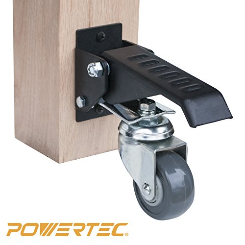 Casters Lockable - POWERTEC 17000 Workbench Caster Kit (Pack of 4)