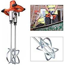 Hand Held Power Concrete Mixers 1800W Portable Electric Mortar Plaster Mixer Tool Double Shaft