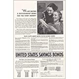RelicPaper 1938 United States Savings Bonds: We are Buying a Gove, United States Savings Bonds Print Ad