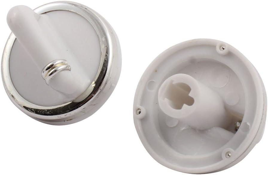 SOURCING MAP sourcingmap Perillas de tono blanco plateado 6 pcs de Hogar Calentador de Agua de repuesto pl/ástico microondas