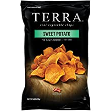TERRA Sweet Potato Chips, No Salt Added, 6 Ounce