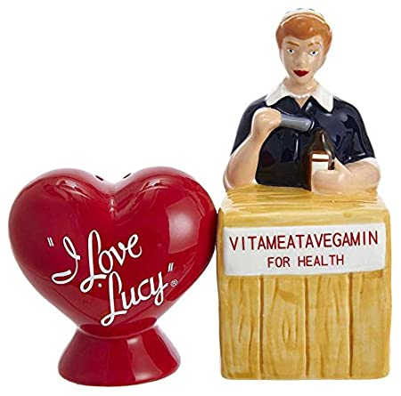 Kurt Adler I Love Lucy Ceramic Salt & Pepper 2-Piece Set