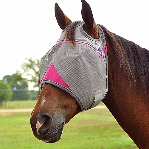 Cashel Crusader Standard Fly Mask with Pink Trim, Benefits Breast Cancer - Size: (Cool Fly Mask)
