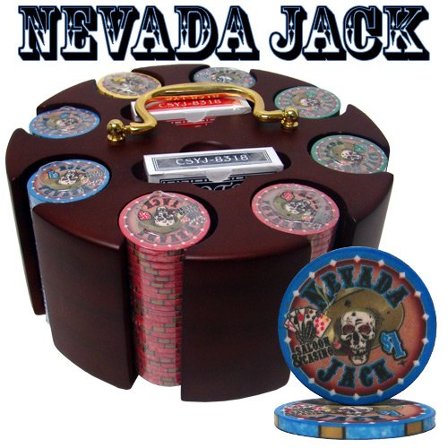 Brybelly Holdings PCS-2501 Pre-Packaged - 200 Ct Nevada Jack 10 Gram Chip Carousel Set