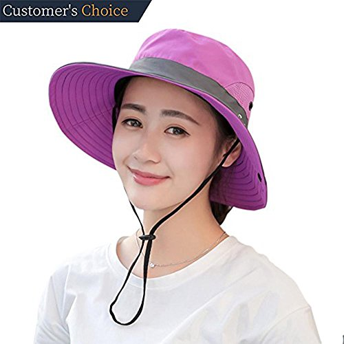 Sun Mesh Visor (Premium Womens Summer Wide Brim Sun Hat UV Protection Foldable Mesh Caps UPF 50+ Beach Hat Adjustable Fishing Cap (One Size, Purple))