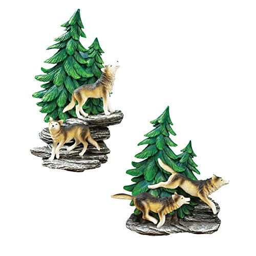 Wolf Wall Decor Set Multi