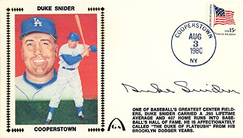 - Duke Snider Autographed First Day Cover Brooklyn Dodgers Beckett BAS #E48986